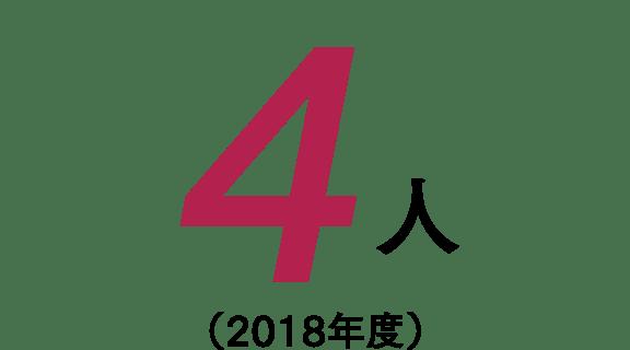 4人(2018年度)